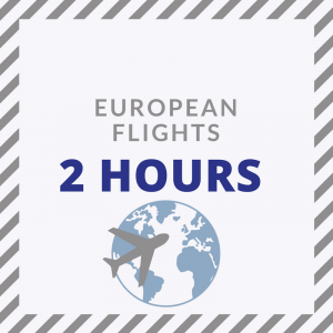 Check in at least 2 hours prior to leaving on a European flight from London City Airport