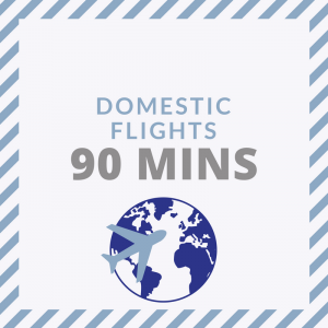 Check in at least 90 minutes prior to leaving on a domestic flight from London City Airport