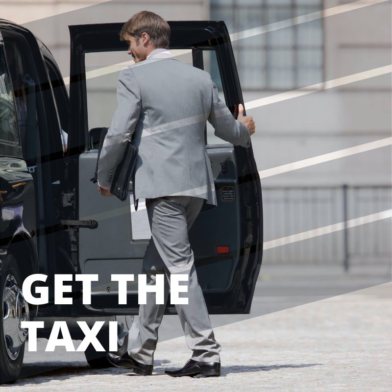 Getting to London City Airport - get the taxi